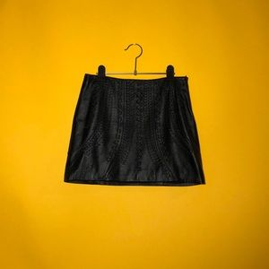 ZARA Lambskin Leather Mini Skirt